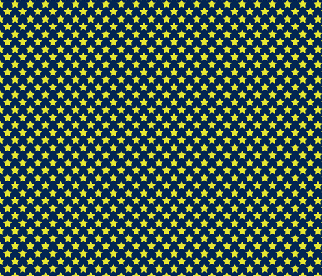 Navy Neon Star fabric by mgterry on Spoonflower - custom fabric