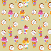 cupcake retro collage
