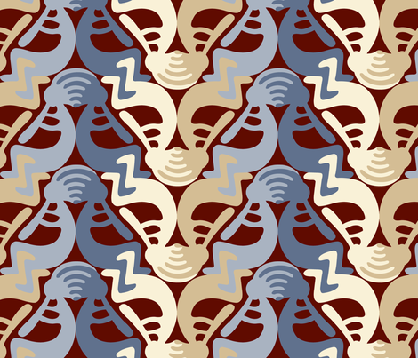 Kokopelli Stone fabric by andrea11 on Spoonflower - custom fabric