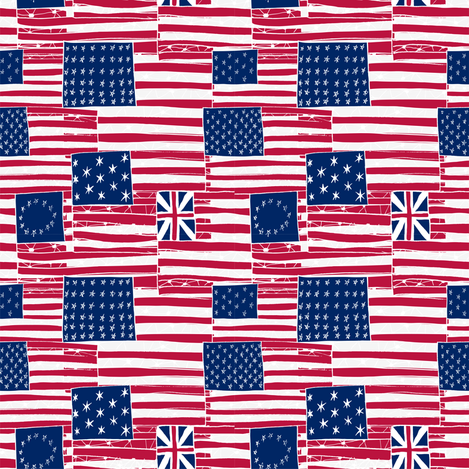 The Evolution of The American Flag fabric by majobv on Spoonflower - custom fabric