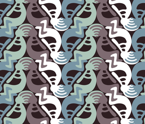 Kokopelli Season1 fabric by andrea11 on Spoonflower - custom fabric
