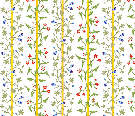 Rococo - Stripes and Vines - c. 1726-27 fabric by bonnie_phantasm on Spoonflower - custom fabric