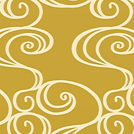 Goldie Swirlie large fabric by flyingfish on Spoonflower - custom fabric