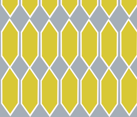 Lattice in Citron and Ash fabric by bexcaliber on Spoonflower - custom fabric
