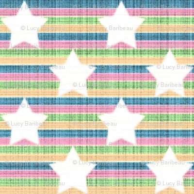 star stripes rainbow