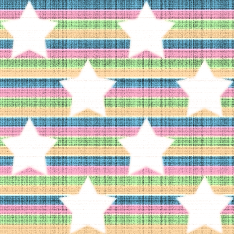 star stripes rainbow fabric by fantazya on Spoonflower - custom fabric