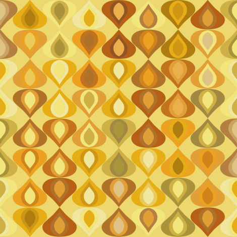 gouttelette gold fabric by scrummy on Spoonflower - custom fabric