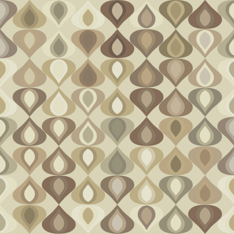 gouttelette natural fabric by scrummy on Spoonflower - custom fabric
