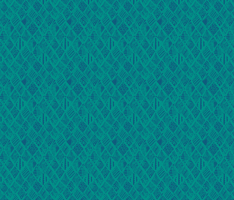African-Page-Blue fabric by angie_mac on Spoonflower - custom fabric