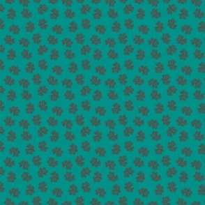 Indian Dot Paisley in blue & green