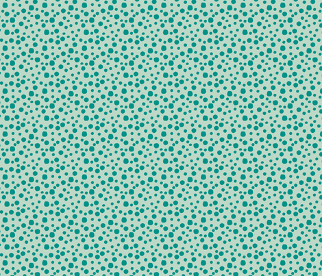 Mini Dot in blue & green fabric by angie_mac on Spoonflower - custom fabric