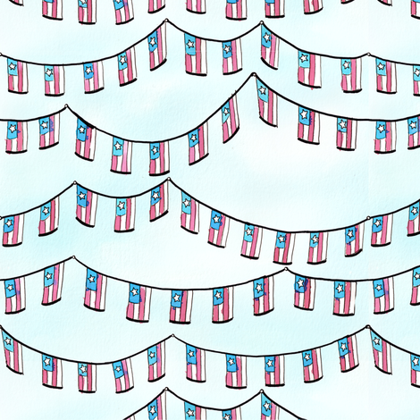 Flag Garland fabric by annegirl on Spoonflower - custom fabric