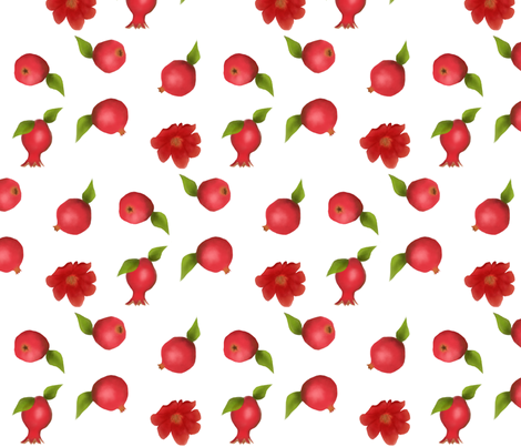 Pomegranate Toss fabric by oceanpien on Spoonflower - custom fabric