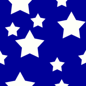White stars on blue
