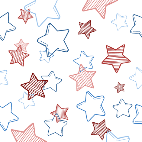 Star Spatter fabric by annegirl on Spoonflower - custom fabric