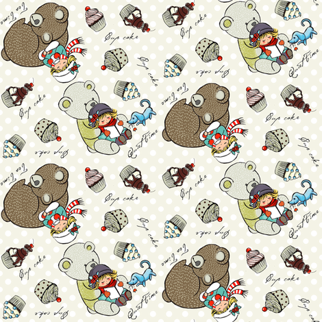 Tea time fabric by theboutiquestudio on Spoonflower - custom fabric