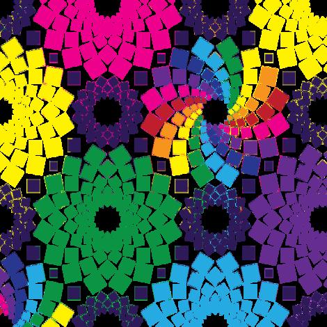 Kaleidoflowers (Rainbow)