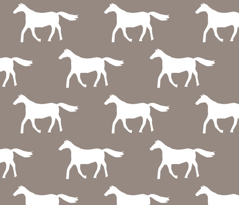 Brown Horses fabric by alihenrie on Spoonflower - custom fabric