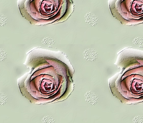 papery iced flowers on a cupcake  fabric by mandybeau on Spoonflower - custom fabric