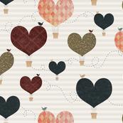 Heart Air Balloonss