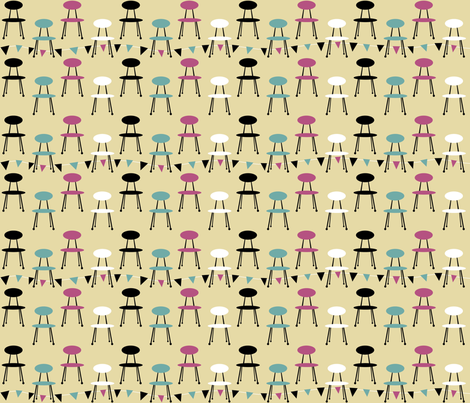 chairs_cy_pink fabric by peppermintpatty on Spoonflower - custom fabric