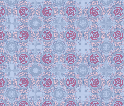 celtic denim fabric by keweenawchris on Spoonflower - custom fabric