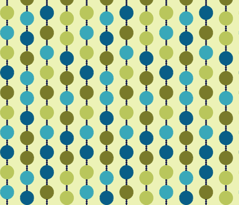 Mad Dots on Light Green fabric by stitchwerxdesigns on Spoonflower - custom fabric