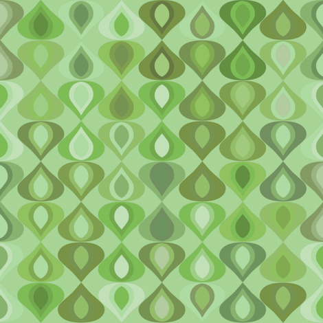 gouttelette leaf fabric by scrummy on Spoonflower - custom fabric