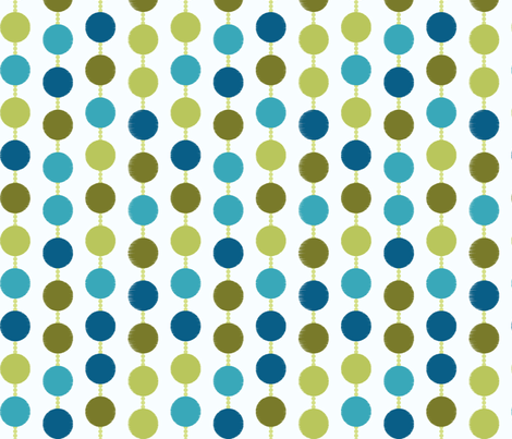 Mad Men Inspired Fabric-Mad Dots on White fabric by stitchwerxdesigns on Spoonflower - custom fabric