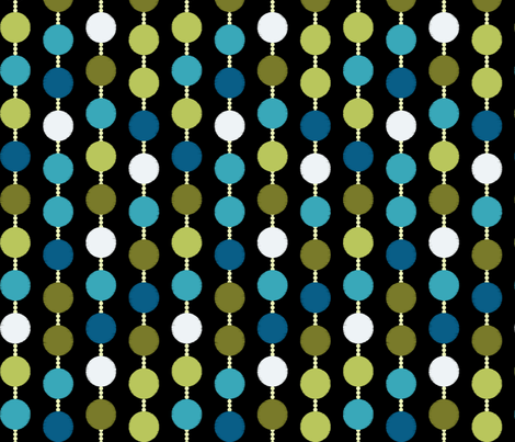 Mad Men Inspired Fabric-Mad Dots on Black