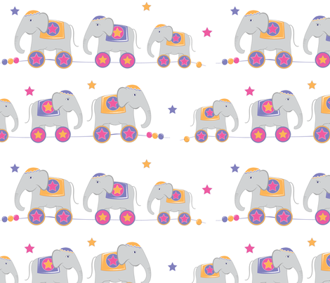 Elephant Walk fabric by cottageindustrialist on Spoonflower - custom fabric