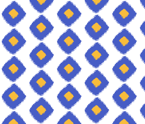 Ikat Square Nantucket fabric by lulabelle on Spoonflower - custom fabric