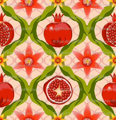 Papa's pomegranate flowers (pink)