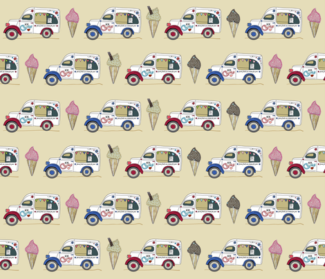 ice_van_RedWhiteBlue fabric by peppermintpatty on Spoonflower - custom fabric