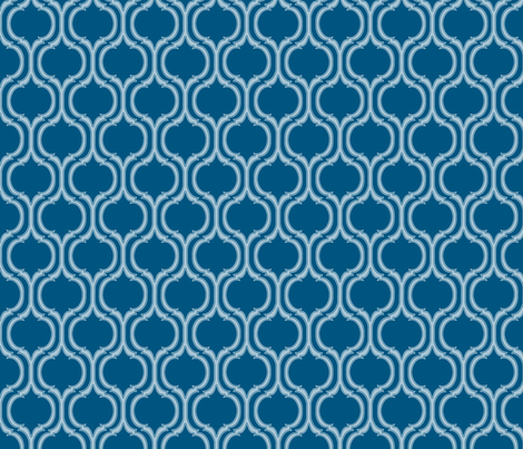 Turquoise Tile Print fabric by gail_mcneillie on Spoonflower - custom fabric