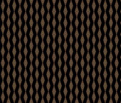 Black with Small Brown Diamond © Gingezel™ 2012 fabric by gingezel on Spoonflower - custom fabric