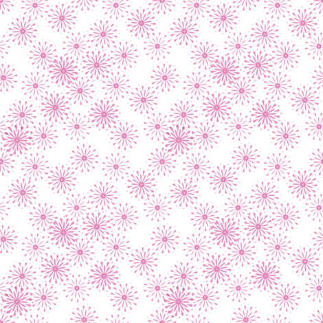 Summer Flowers in pink fabric by joanmclemore on Spoonflower - custom fabric