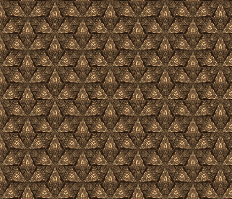 Dark Brown Sierpinski Triangle © Gingezel™ 2012 fabric by gingezel on Spoonflower - custom fabric