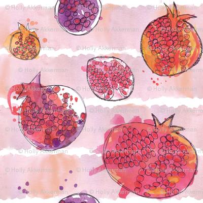 pomegranate watercolor