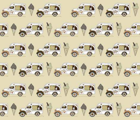 ice_van_cappuccino fabric by peppermintpatty on Spoonflower - custom fabric