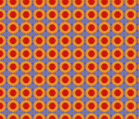 eternity_sun_on blue 150dpi fabric by kymnicolas on Spoonflower - custom fabric
