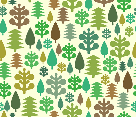Little Forest fabric by kimsa on Spoonflower - custom fabric