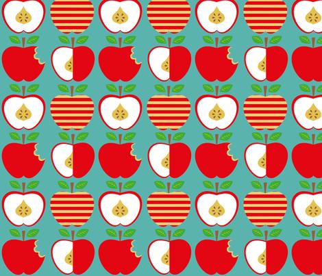 apples fabric by jodysart on Spoonflower - custom fabric
