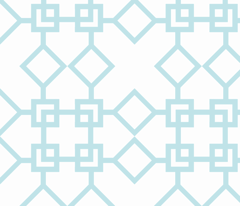 Climb the Trellis Aqua fabric by honey&fitz on Spoonflower - custom fabric
