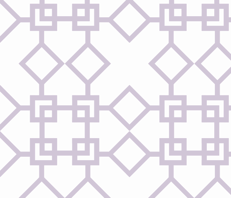 Climb the Trellis Wisteria fabric by honey&fitz on Spoonflower - custom fabric