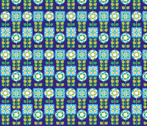 blumeblau fabric by jodysart on Spoonflower - custom fabric