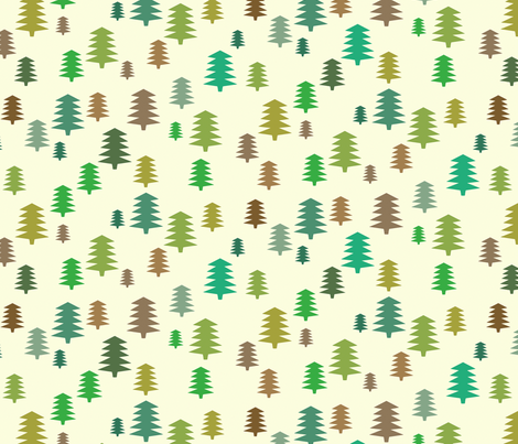 Pine tree fabric by kimsa on Spoonflower - custom fabric