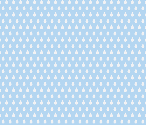 Rainy Days Flip (light sky blue) fabric by pattyryboltdesigns on Spoonflower - custom fabric