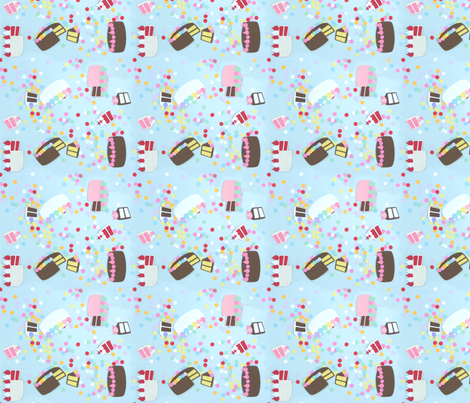 Small Paper Cakes fabric by lyddiedoodles on Spoonflower - custom fabric