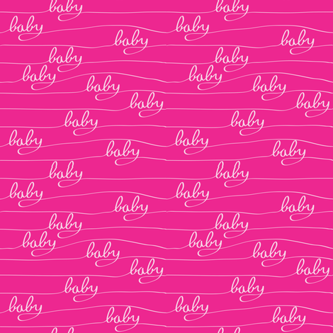Baby Baby Pink fabric by bartlett&craft on Spoonflower - custom fabric